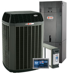 Trane air conditioners, heating units, comfort system